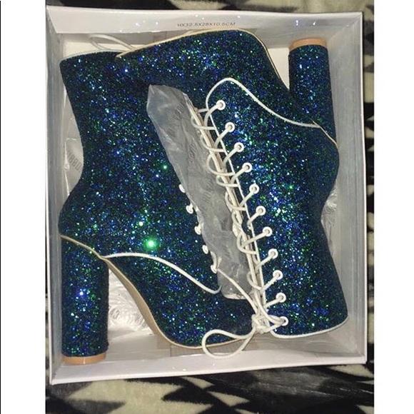 b5f4451785 DOLLS KILL Mermaid shine show lace up boots